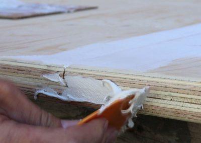 Faire le joint entre deux feuilles de Plywood - Plasto