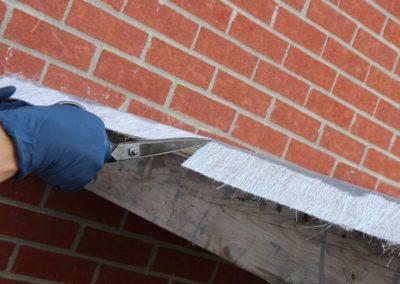 Couper la fibre de verre à chaque 2 à 3 pieds - Plasto