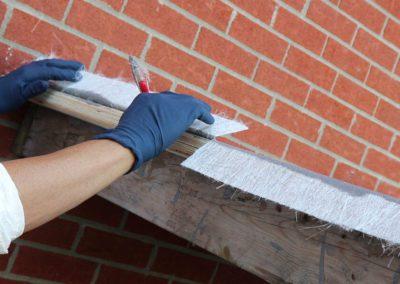 Rabattre la fibre de verre sur le balcon - Plasto